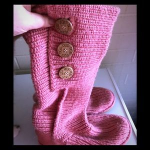Ugg pink cardy boots
